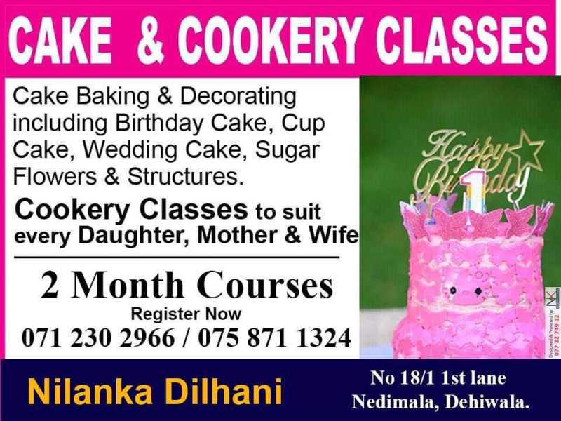 Cake and Cookery Classes Maharagama