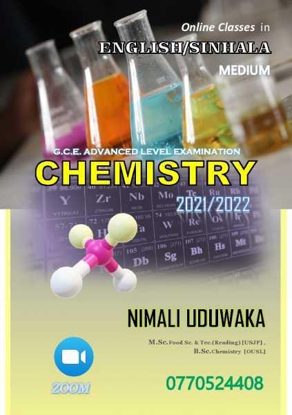 Online Classes for A/L CHEMISTRY – ENGLISH/SINHALA Medium
