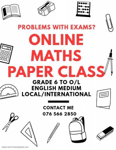 Online Maths Paper Class Gampaha