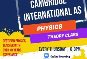 Cambridge A-Level Physics Theory Class