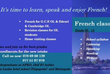 It's time to learn speak and enjoy French